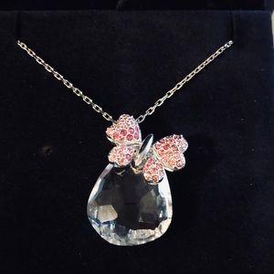Swarovski Crystal Butterfly necklace NWOT